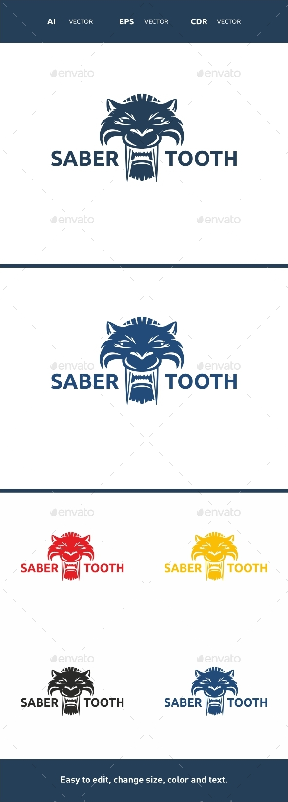 GraphicRiver Sabertooth Logo 9829516