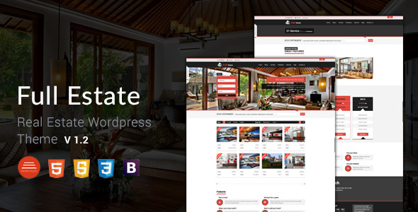 Full Estate - Wordpress Real Estate Theme  - Business Corporate