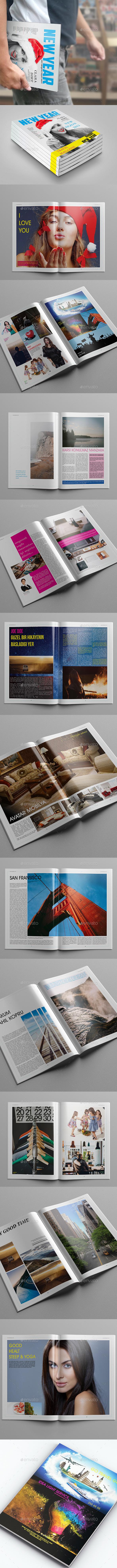 GraphicRiver New Year Magazine Template 9829616