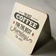 Coaster Label Mockup - GraphicRiver Item for Sale