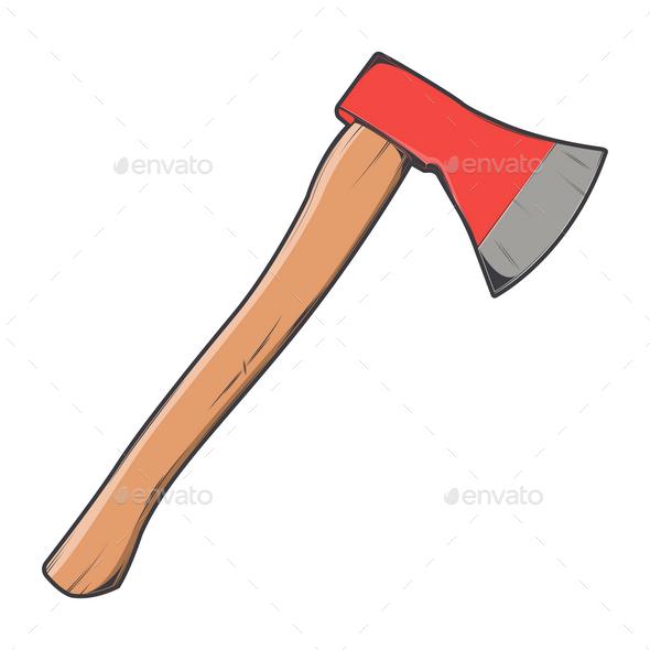 GraphicRiver Wooden Axe 9829746