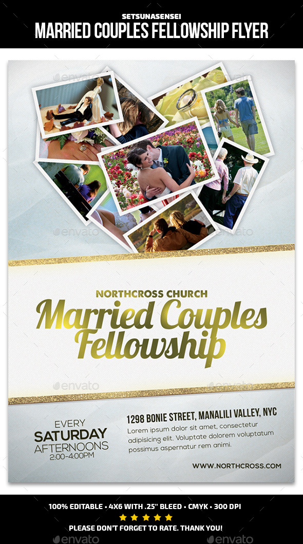 GraphicRiver Married Couples Fellowship Church Flyer 9829783