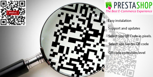 CodeCanyon QR-Code for Prestashop 9830015