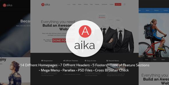 ThemeForest Aaika Responsive MultiPurpose HTML5 Template 9781739