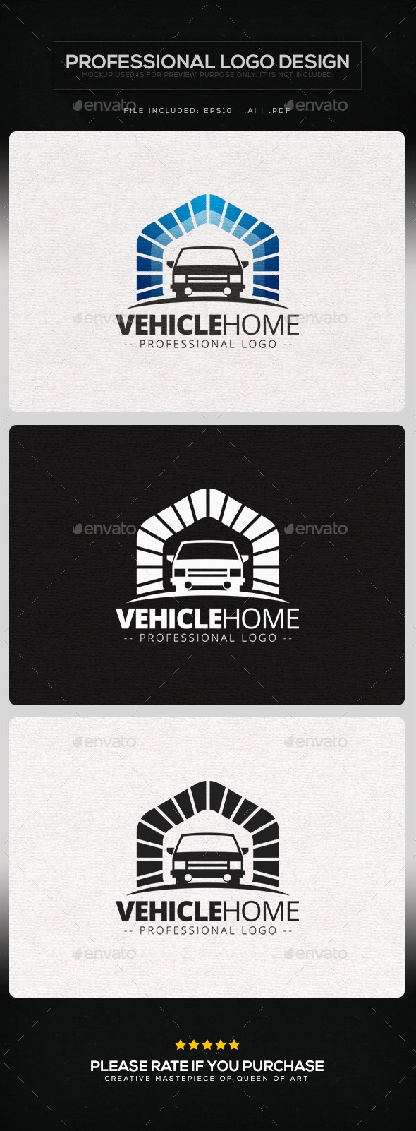 Vehicle Home Logo Template
