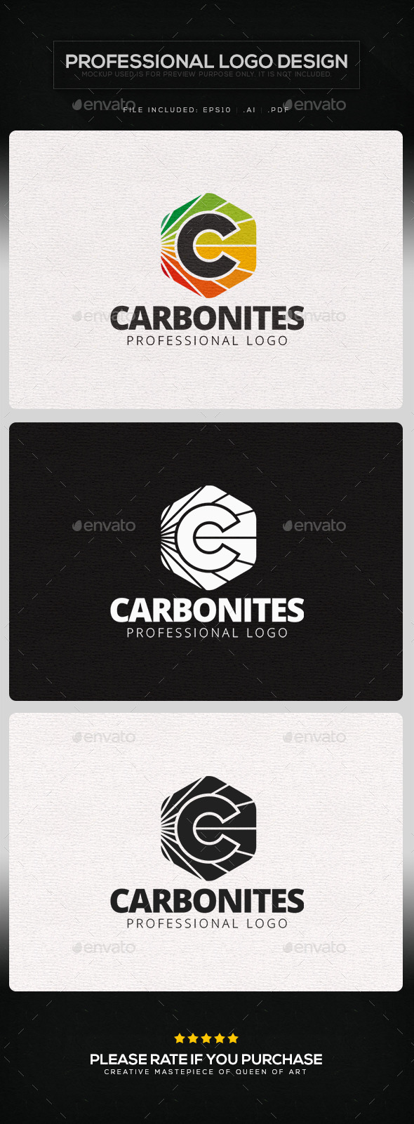 GraphicRiver Carbonites Logo Template 9830340