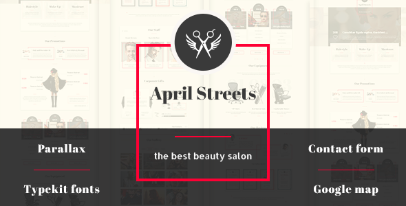 ThemeForest April Streets- Hair Spa Manicure Muse Template 9830354