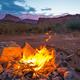 Bonfire after Sunset Camping in Utah - PhotoDune Item for Sale