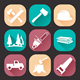 Lumberjack Woodcutter Icons Set - GraphicRiver Item for Sale