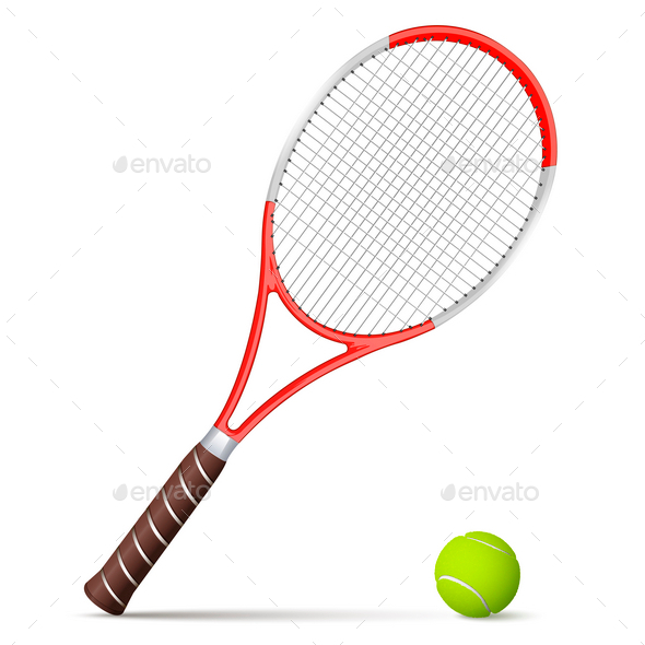 GraphicRiver Tennis Racket and Ball 9830576