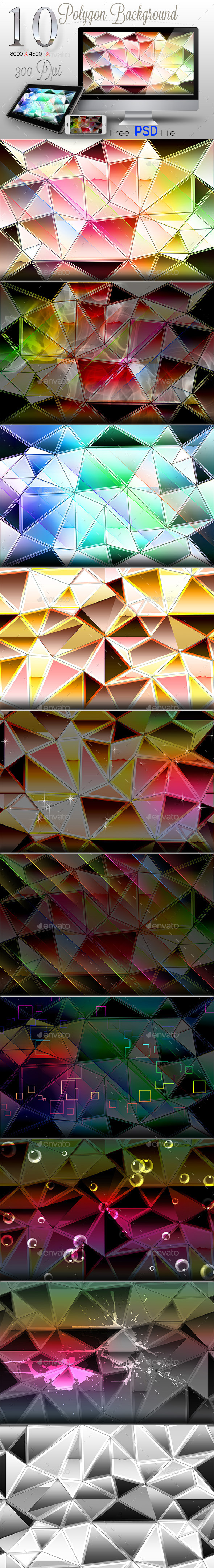 GraphicRiver 10 Polygon Backgrounds 9830790