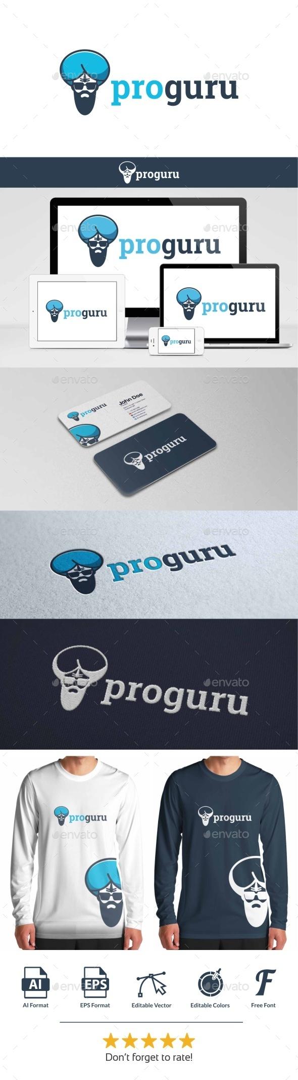 GraphicRiver Pro Guru Logo 9778591