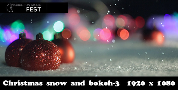 Christmas Snow And Bokeh 3