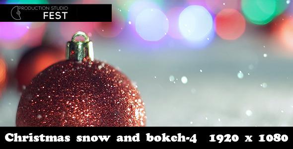 Christmas Snow And Bokeh 4