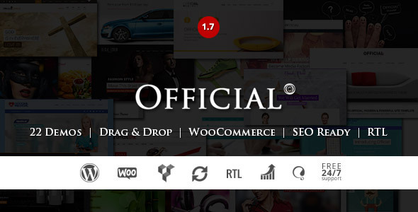 WORDPRESS 4.1 and WOOCOMMERCE 2.2.x COMPATIBLE Updated on 17th Dec 2014 (v1.7) Official is a Clean and Corporate Friendly multi-purpose WordPress theme, It&rsq