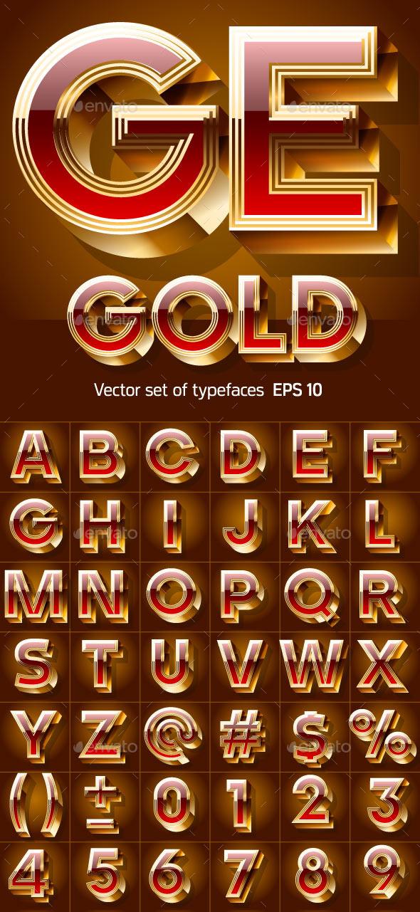 GraphicRiver Golden Coloured Font 9831233
