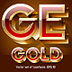 Golden Coloured Font - GraphicRiver Item for Sale