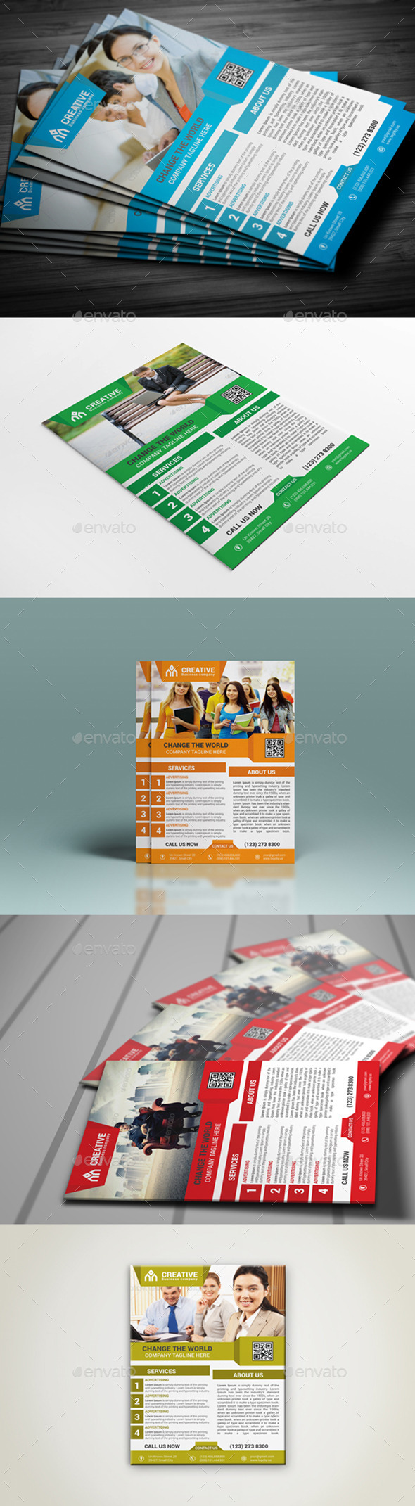GraphicRiver Creative Corporate Flyer Template 9831304