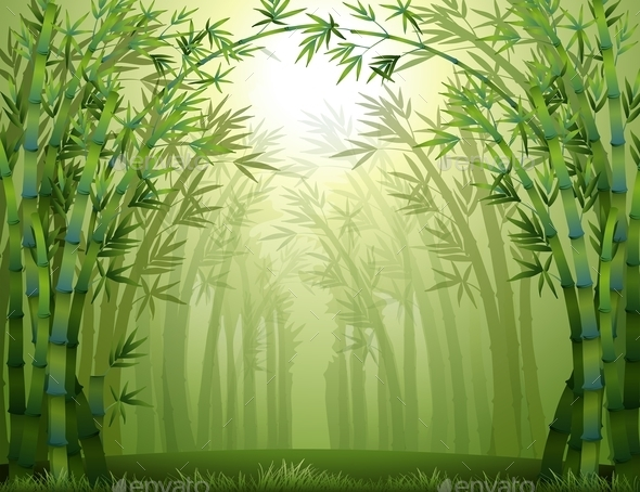 GraphicRiver Bamboo Trees 9831427