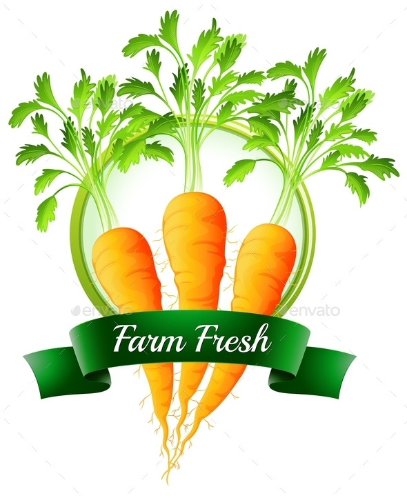 GraphicRiver Carrot Label 9831441