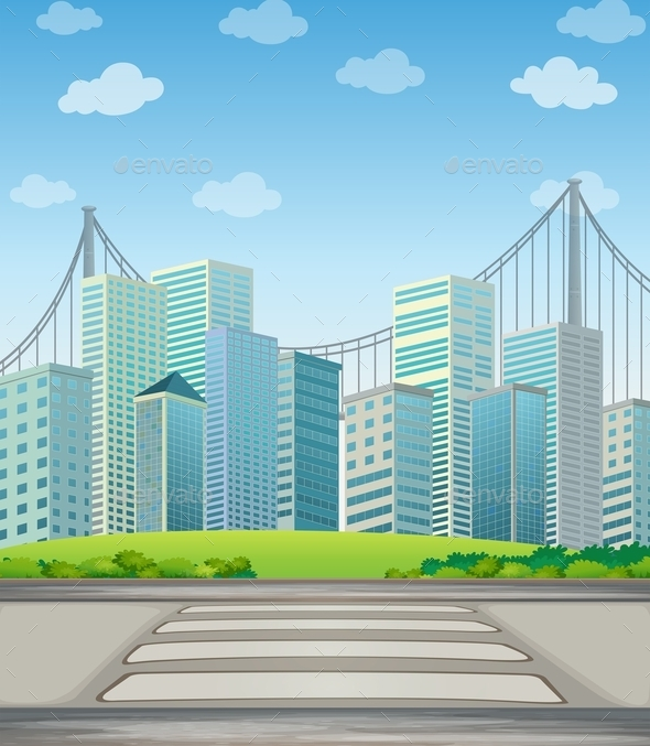 GraphicRiver Tall Buildings in the City 9831455