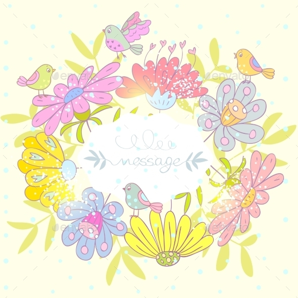 GraphicRiver Flowers Frame 9831459