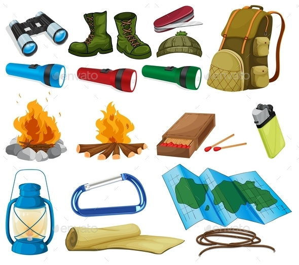 GraphicRiver Camping Set 9831468