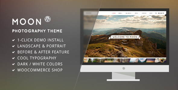 ThemeForest Moon WordPress Theme for Photographers 9767305