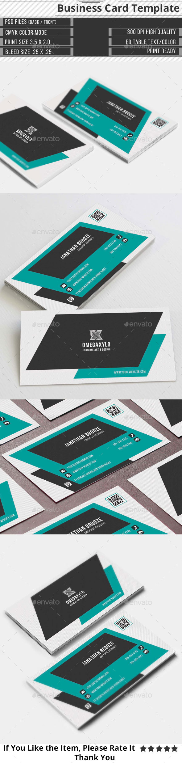 GraphicRiver Modern Corporate Business Card 9832374