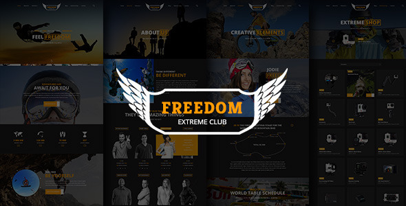 ThemeForest Freedom Extreme Club Powerful HTML Template 9738611