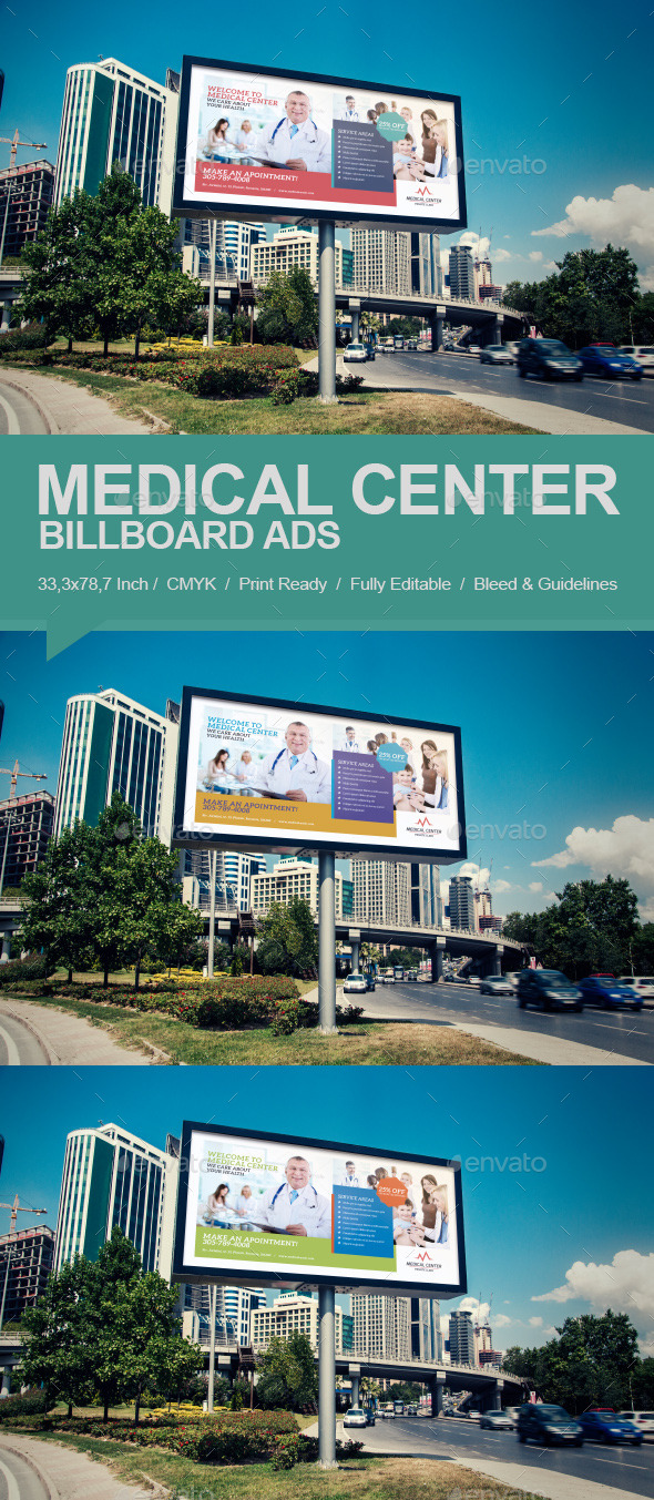 GraphicRiver Medical Center Billboard 9832442