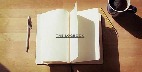 AE模板-复古书籍翻书定格动画恋爱日记素描模板The Logbook Mockup免费下载