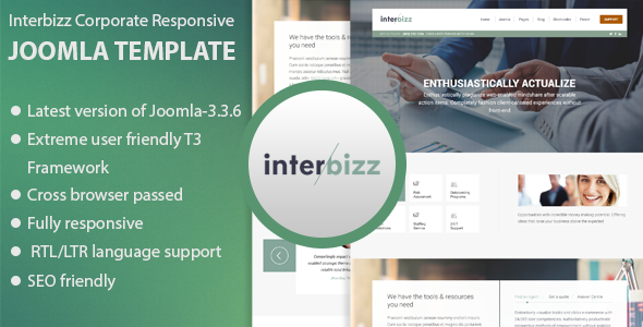 ThemeForest Interbizz Corporate Responsive Joomla Template 9707457