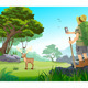 Landscape with Animals - GraphicRiver Item for Sale