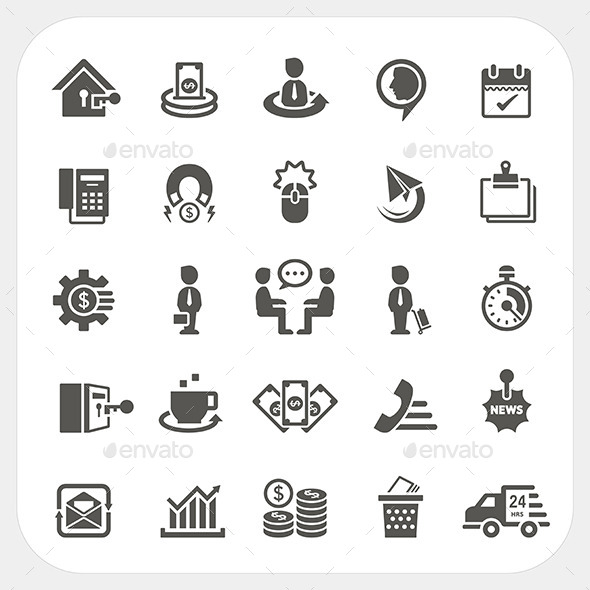 GraphicRiver Business and Finance Icons Set 9833964