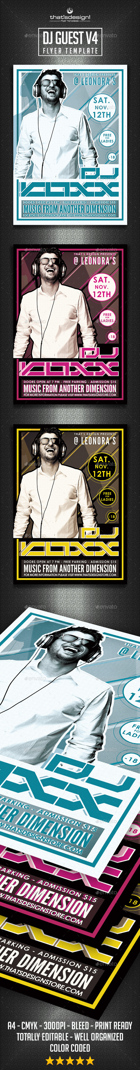 GraphicRiver DJ Guest Flyer Template V4 9833990