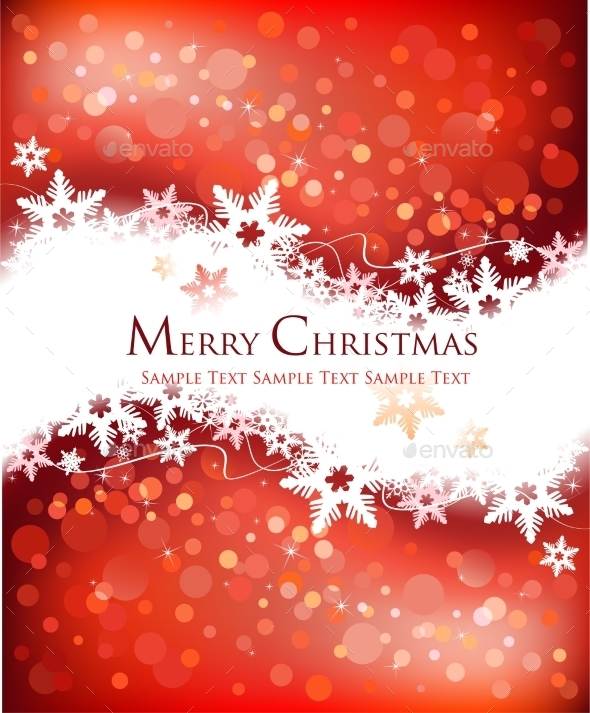 GraphicRiver Festive Christmas Background 9834009