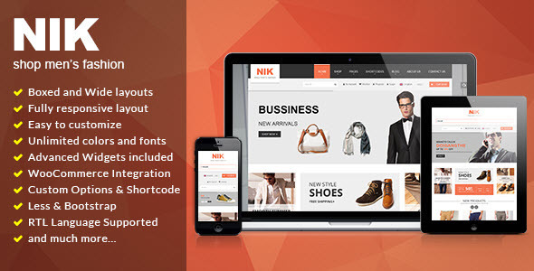 Nik Responsive WooCommerce WordPress Theme