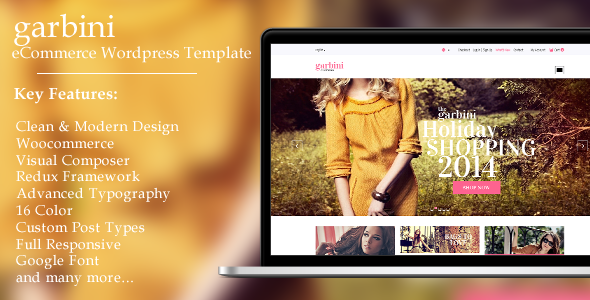 ThemeForest Garbini Stylish Wordpress Ecommerce Theme 9834237