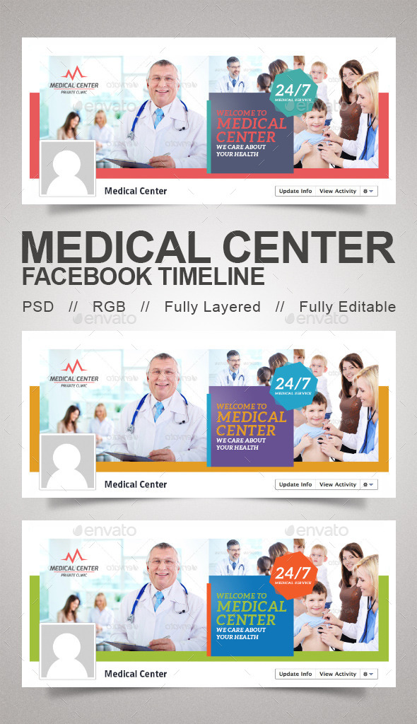 GraphicRiver Medical Center Timeline 9834239