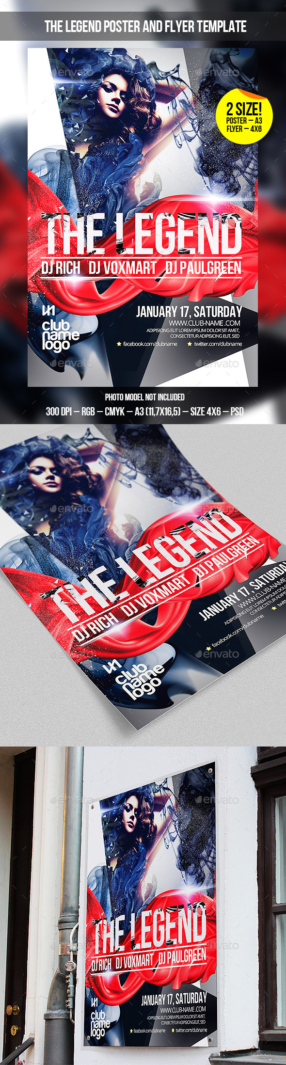 GraphicRiver The Legend Party Poster Flyer Template 9834371