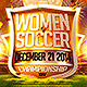 Women Soccer Flyer Template  - GraphicRiver Item for Sale
