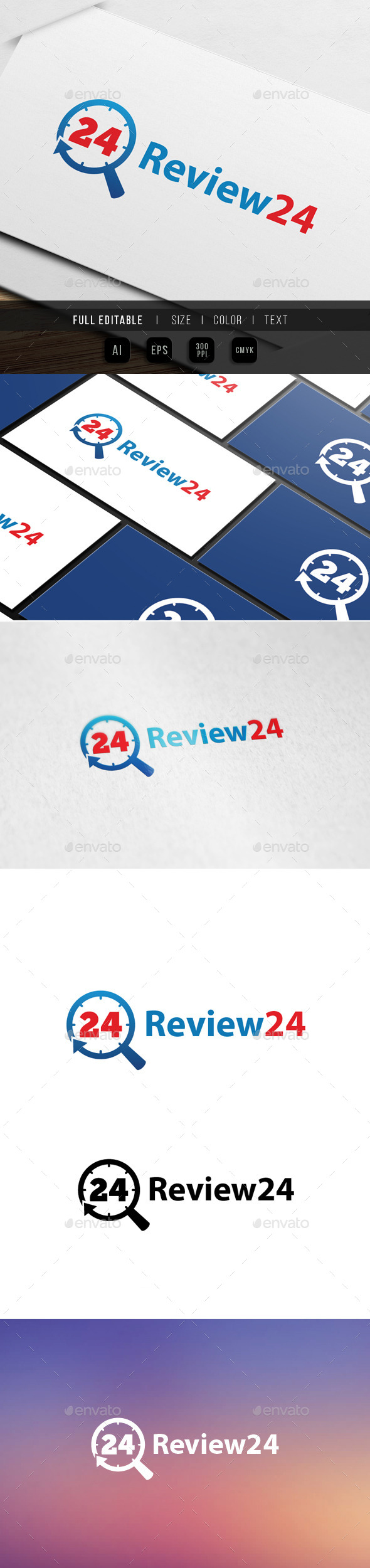 review search 24 hour logo