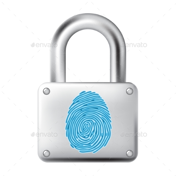 GraphicRiver Fingerprint Lock 9834967