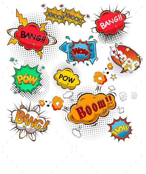 GraphicRiver Comic Speech Bubbles 9795624