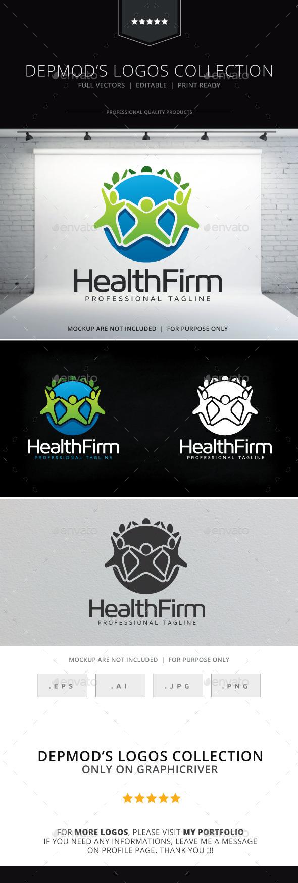 GraphicRiver Health Firm Logo 9835289