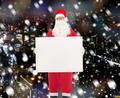 man in costume of santa claus with billboard - PhotoDune Item for Sale