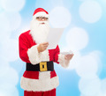 man in costume of santa claus with letter - PhotoDune Item for Sale