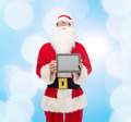 man in costume of santa claus with tablet pc - PhotoDune Item for Sale