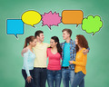 group of smiling teenagers with text bubbles - PhotoDune Item for Sale